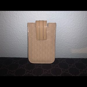Authentic Gucci guccissma card case wallet holder
